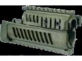 Полимерное цевье с системой четырех планок (Quad-Rail) для АК-47 FAB-Defense AK-47 зеленая