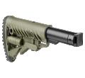 Телескопический складной приклад М4-SAIGA для САЙГИ/AK-74M/АК-100-ые серии