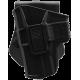 Кобура поворотная с кнопкой для Glock 9 мм (левша)