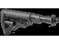 Приклад телескопический складной с амортизатором для ВЕПРЬ FAB-Defense M4-VEPR FK SB черый