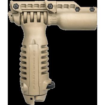 Тактическая рукоять-сошка с креплением для фонаря