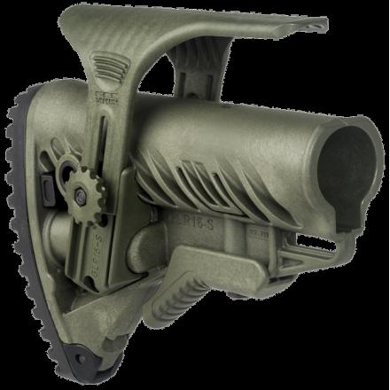 Приклад для AR15/M16/АК/САЙГА FAB-Defense GLR-16 CP зеленый