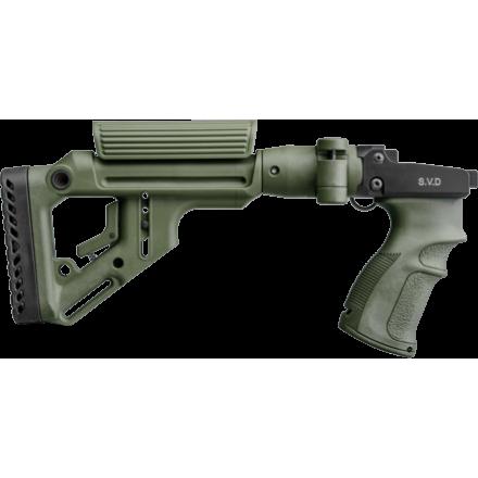 Снайперский складной приклад на СВД UAS-SVD