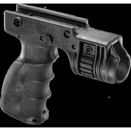 Тактическая рукоять с креплением для фонаря диаметром 1 дюйм FAB-Defense T-GRIP