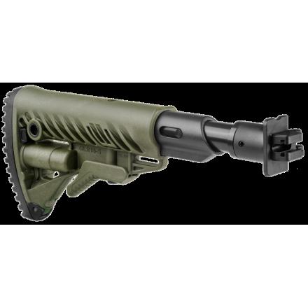Приклад телескопический складной с амортизатором для ВЕПРЬ FAB-Defense M4-VEPR FK SB зеленый