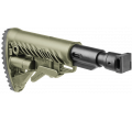 Телескопический складной приклад с амортизатором для САЙГИ/AK-74M/АК-100-ые серии