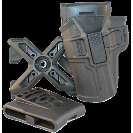 Кобура поворотная с кнопкой для SIG SAUER P226 (левша)